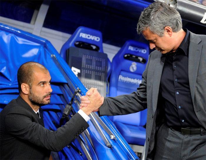 Guardiola y Mourinho, lucha de titanes